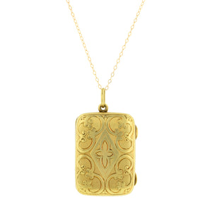 Victorian Engraved Rectangular Locket