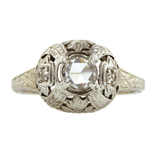 Art Deco Diamond Engagement Ring, Rose Cut 0.39ct:: Doyle & Doyle