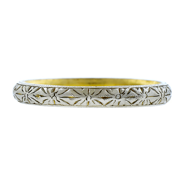 Art Deco Patterned Wedding Band :: Doyle & Doyle
