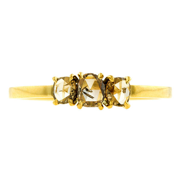 Cognac Rose Cut Diamond Ring- Heirloom by Doyle & Doyle::