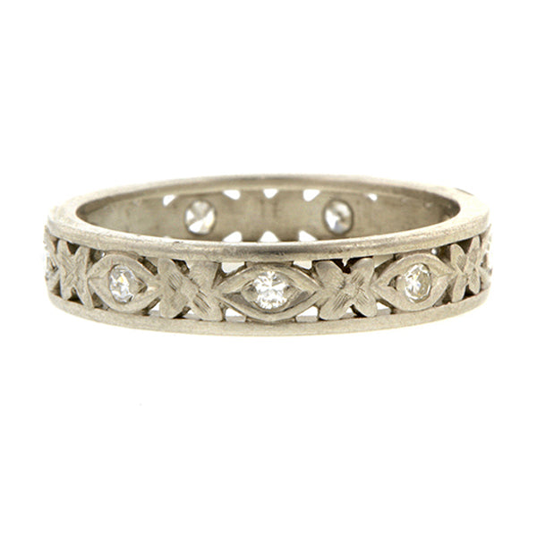 Vintage Diamond Patterned Eternity Band:: Doyle & Doyle