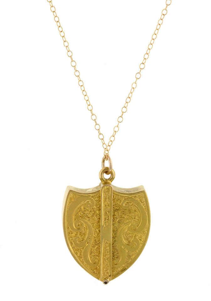 Edwardian Shield Locket