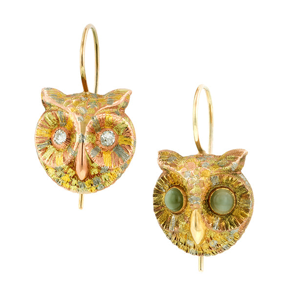 Victorian Owl Earrings::Doyle & Doyle