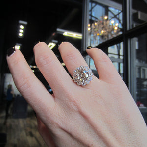 Antique Diamond Cluster Ring, Old Euro 4.00ct::Doyle & Doyle