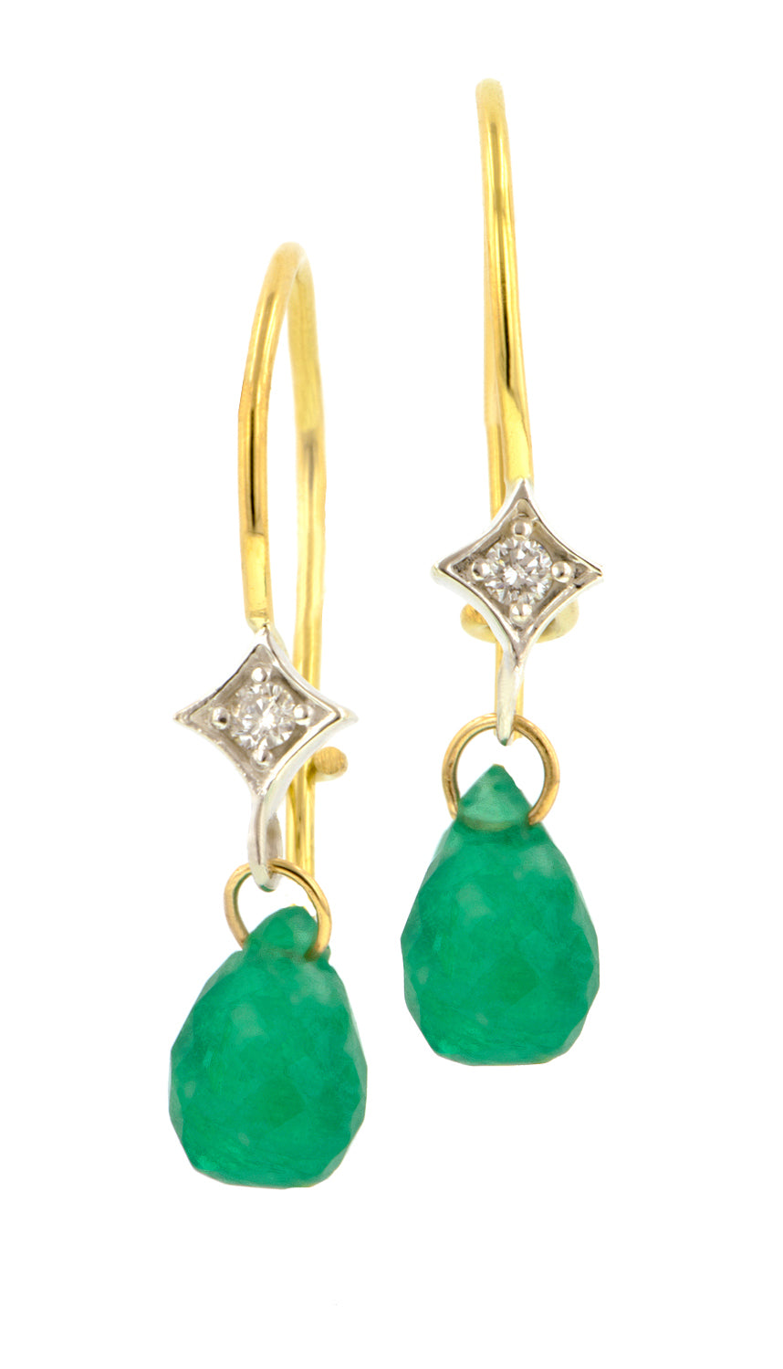 Diamond & Briolette Earrings- Heirloom by Doyle & Doyle