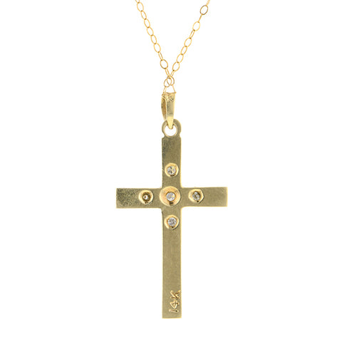Vintage Cross Pendant Necklace