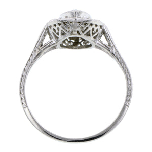 Art Deco Diamond Engagement Ring, Marquise 1.09ct:: Doyle & Doyle