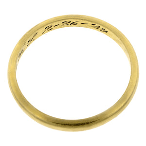 Art Deco Wedding Band:: Doyle & Doyle