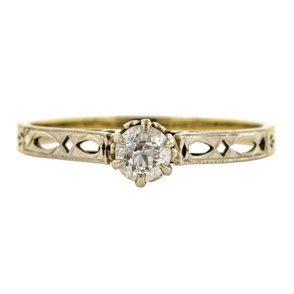 Vintage Solitaire Diamond Engagement Ring, Old Mine; 0.22ct:: Doyle & Doyle