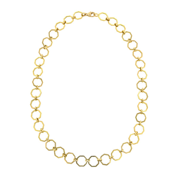 Octagonal Link Chain Necklace-Heirloom by Doyle & Doyle::