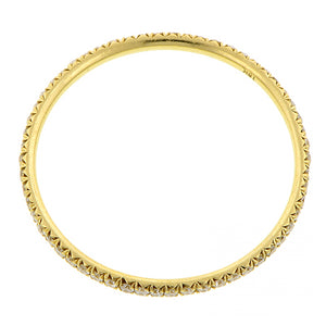 Yellow Gold, Round Brilliant Diamond Set Wire Eternity Band