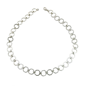 Octagonal Link Chain Necklace-Heirloom by Doyle & Doyle