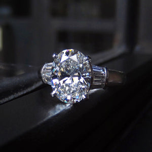 Estate Engagement Ring, Oval 2.07ct