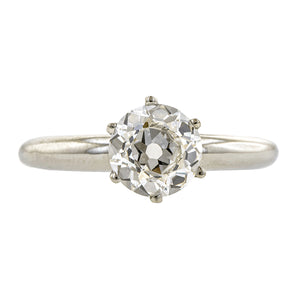 Estate Tiffany & Co. Solitaire Engagement Ring, Old Euro; 1.18ct:: Doyle & Doyle