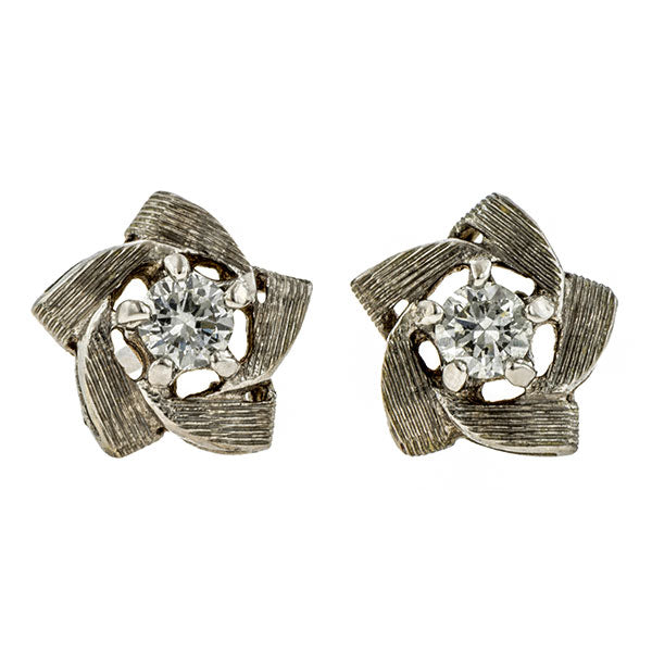 Vintage Diamond Star Stud Earrings::Doyle & Doyle