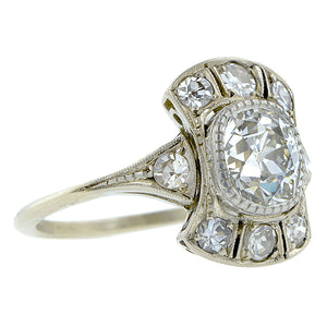 Vintage Diamond Engagement Ring, Old Mine 1.12ct