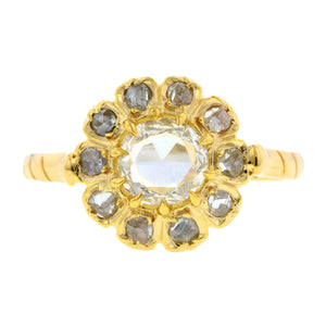 Rose Cut Diamond Flowerhead Ring:: Doyle & Doyle