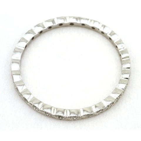 Contemporary Crossover Twist Diamond Wedding Band sold by Doyle & Doyle vintage and antique jewelry boutique.