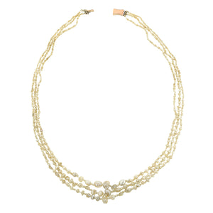 Georgian Natural Freshwater Pearl Triple Strand Necklace:: Doyle & Doyle