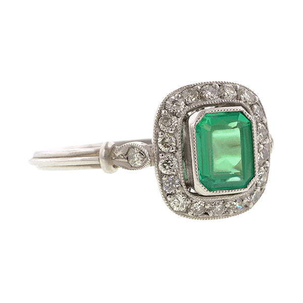 Emerald & Diamond Ring::Doyle & Doyle