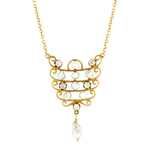Vintage Diamond & Pearl Necklace:: Doyle & Doyle
