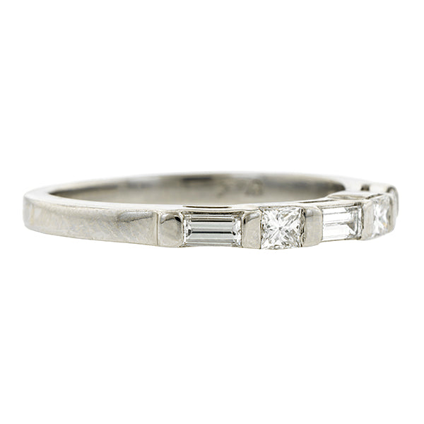 Baguette & Square Diamond Wedding Band