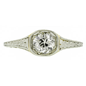 Art Deco Solitaire Engagement Ring, Old European 0.43ct: Doyle & Doyle