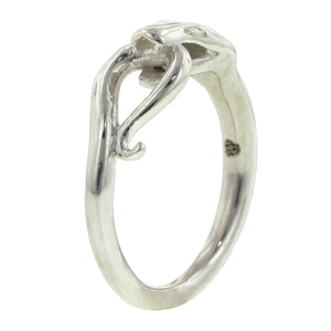 Diamond Snake Ring with Looped Tail- Heirloom by Doyle & Doyle