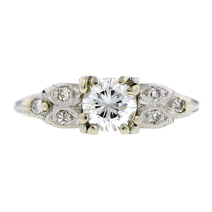Vintage Diamond Engagement Ring, RBC 0.47ct:: Doyle & Doyle