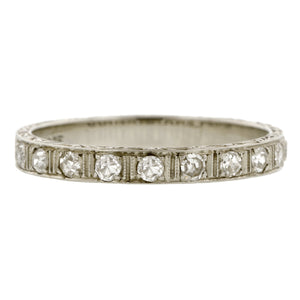 Art Deco Diamond Patterned Wedding Band:: Doyle & Doyle