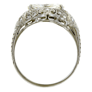 Art Deco Diamond Ring, MQ 0.92ct:: Doyle & Doyle