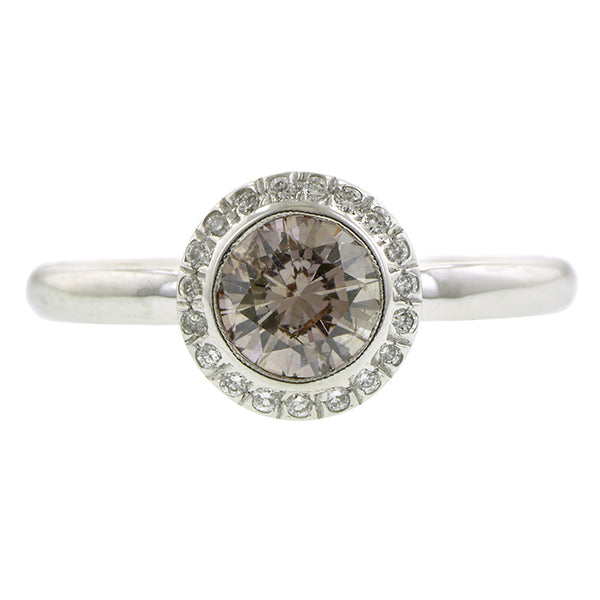 Diamond Frame Engagement Ring-Heirloom by Doyle & Doyle, RBC 0.66ct::Doyle & Doyle
