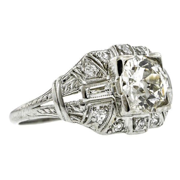 Art Deco Engagement Ring, Old Euro; 1.24ct:: Doyle & Doyle