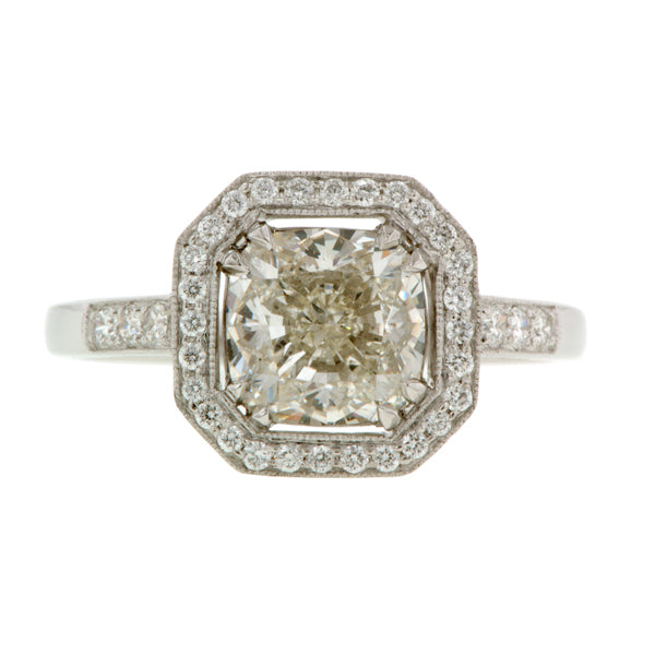 Cushion Halo Ring, Cushion 1.90ct:: Doyle & Doyle