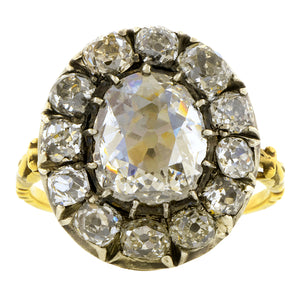 Georgian Diamond Cluster Ring, Old Mine Cut, 2.00:: Doyle & Doyle