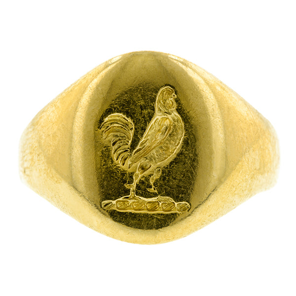 Vintage Rooster Signet Ring::Doyle & Doyle