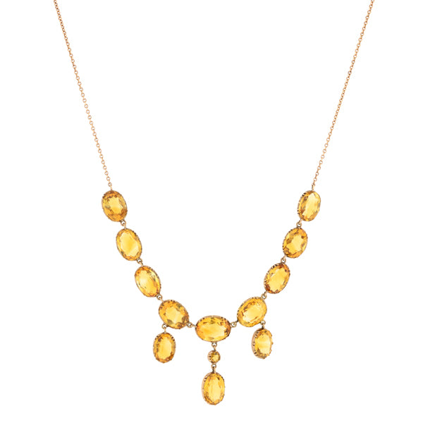 Victorian Citrine Necklace :: Doyle & Doyle