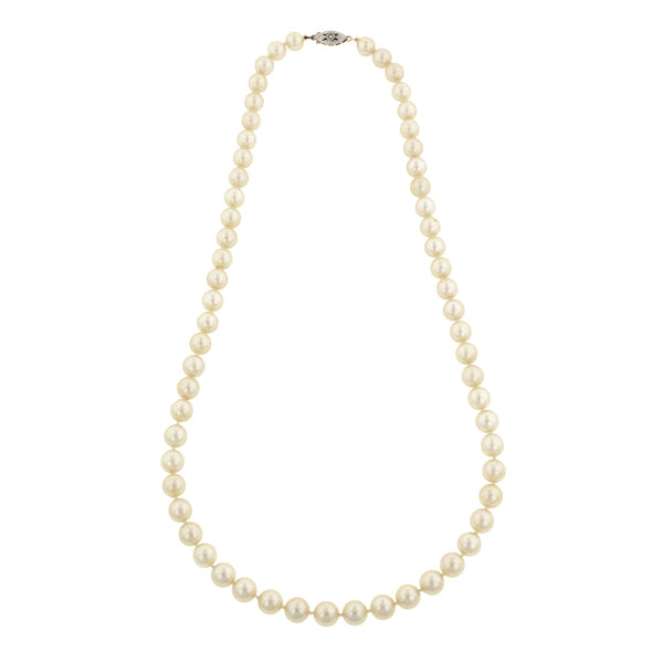 Vintage Single Strand Pearl Necklace
