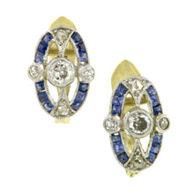 Vintage Diamond & Sapphire Earrings::Doyle & Doyle