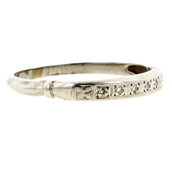 Art Deco Diamond Wedding Band Doyle & Doyle