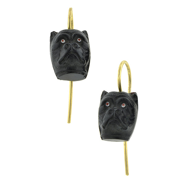 Victorian Pug Dog Earrings:: Doyle & Doyle