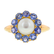Victorian Pearl & Sapphire Ring :: Doyle & Doyle