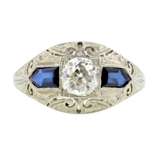 Art Deco Engagement Ring, Old Euro 0.69ct::Doyle & Doyle