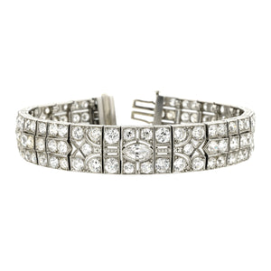 Art Deco Diamond Link Bracelet::Doyle & Doyle