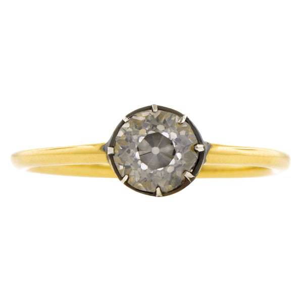 Starry Night Fancy Gray Diamond Engagement Ring, Old Euro 0.73ct - Heirloom by Doyle & Doyle