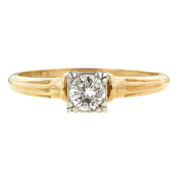 Vintage Solitaire Engagment Ring, RBC:: Doyle & Doyle