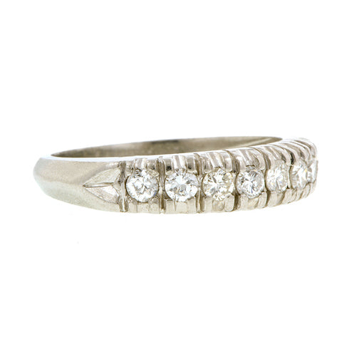 Vintage Diamond Wedding Band Ring, Platinum, sold by Doyle & Doyle vintage and antique jewelry boutique.