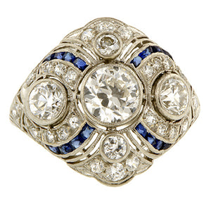 Art Deco Engagement Ring, Old Euro