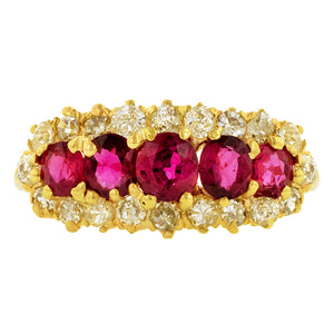 Victorian Ruby & Diamond Ring 1.14ct
