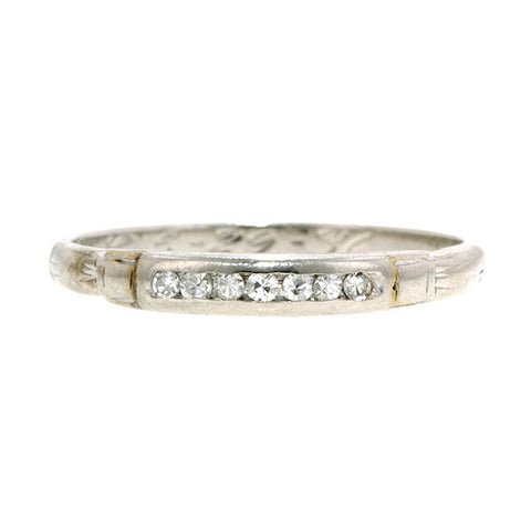 Art Deco Diamond Wedding Band:: Doyle  &Doyle